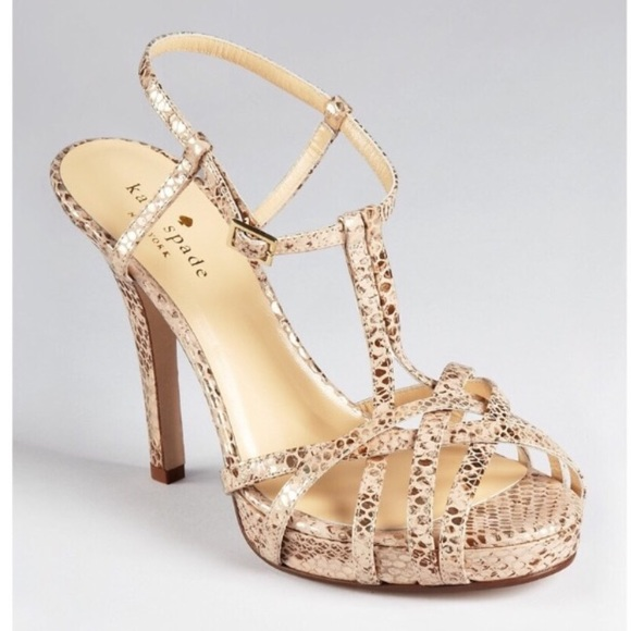 1f383ac1e7e4 kate spade Shoes | Nude Rose Gold Snake Print Heels | Poshmark